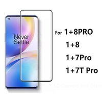 5D Curved Edge Full Cover Tempered Glass Phone Screen Protector For one 1 plus + 8 8pro 7 7t Pro 5G no retail package