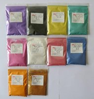 Nail Glitter Supply Pearl Pigment,color Mica For Cosmetic Application,1 Lot=10 Colors,20 Gram Each Color,total 200 Gram,free .1