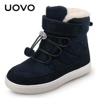 2020 Uovo 새로운 도착 겨울 아이 스노우 패션 어린이 따뜻한 부츠 소년 소녀 신발 봉제 안감 # 31-37