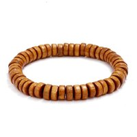 Link, Chain Simple Single Circle Wooden Bead Wristband Solid Color Beaded Bracelet Men's Women's Bracelets Hand Accessories Trendy Jewelry