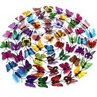 Aufkleber Aufkleber Simulierte Farbe Schmetterling Dreidimensionale Wand Einschicht Simuliert Kühlschrank Home