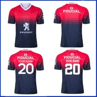 2019 Stade Toulousin Home Rugby Jersey 2020 Toulouse Rugby Training Shorts Jersey Tamanho S-M-L-XL-XXL-3XL-4XL-5XL