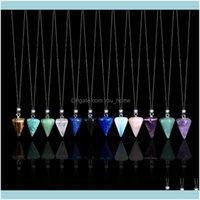 Arti e Arti, Artigianato Casa Gardennatural Crystal Pendente Pendente Gemstone Ametista Aquamarine Collana Diamante Regalo Diamante Insegnante Insegnante Gifts Personaliz