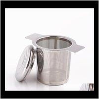 Drinkware Kitchen، شريط الطعام الرئيسية حديقة إسقاط التسليم 2021 أدوات الشاي القهوة بالجملة الجملة قابلة لإعادة الاستخدام الفولاذ المقاوم للصدأ infuser سلة غرامة شبكة s