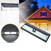 مصابيح الطاقة الشمسية في الهواء الطلق، 118 LED أضواء الجدار استشعار الحركة IP65 للماء 270 درجة، زاوية الإضاءة واسعة سهلة تثبيت ضوء الأمن للممر، الباب الأمامي، الفناء