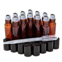 Rouleau de parfum de verre recharge à la bouteille avec bouteille de rouleau en acier inoxydable pour une aromathérapie d'huile essentielle