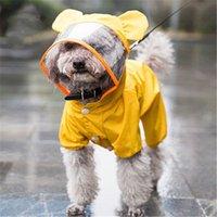 강아지 의류 비옷 작은 중형 개를위한 귀여운 애완 동물 후드 방수 의류 야외 강아지 노란색 통기성 비옷 공급