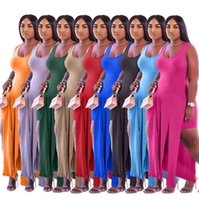 summer Plus size Women Tracksuits sexy Two piece sets split tank top+shorts clothing jogger suit casual Sweatsuit sports outfits S-3XL 9441