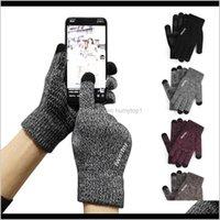 Ski Protective Gear Snow Sports & Outdoorsunisex Knitted Sensitive Touchscreen Gloves Women Men Wool Knitting Anti-Skid Warm Winter Drop Del