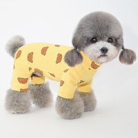 Dog Apparel Autumn and winter dogs pajamas pet puppy clothes four-legged shirt base teddy cat
