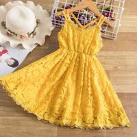 Lace Floral Princess Dress Embroidery Flower Girl Wedding Evening Chidlren Clothing Kids Dresses for Girls Birthday Party Wear Q0716