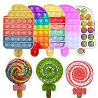 BBT001 Favor Lollipops Pop News and Exotic Toy for Decompression Push Bubble Sensory Toys Autism Special Needs Stress Reliever Gift