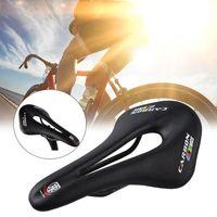 Велосипед Saddles 1PC углеродное волокно кожаная MTB горная дорога велосипед седло седло гоночные 270 * 143mm Функция поглощения