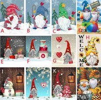 Factory Diamond Painting DIY Full Round Drill Art Gnomes Christmas Arts and Crafts for Home Wall Decor GWB11185