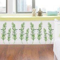 Adesivi murali Spray Pittura Pianta PVC Rimovibile 40x60cm casa per bambini sfondo