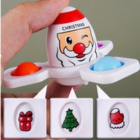 2022 Christmas Fidget Toys Flip Face Changing Push Toy Bubble Silicone Fingertip Gyro Decompression Creative Game Sensory Anxiety Stress Reliever