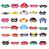 Parti maskeleri keçe çocuk karikatür süper kahraman göz maskesi cadılar bayramı masquerade maske keçe