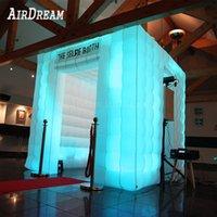 Photobooth корпус надувной фото стенд 16 цветных изменений на фоне воздушных вентиляторов для вечеринок свадебное событие
