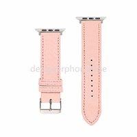 Tasarımcı Watch Bantları Apple IWatch 2 3 4 5 Baskı Moda Mektubu 38mm 40mm 42mm 44mm Kalite Deri Watchband
