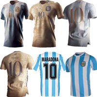 1986 2021 ARGENTINA CONCEPT soccer jersey Maradona special badge golden elements Messi football shirt