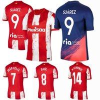 2021 2022 마드리드 축구 유니폼 Koke Atletico Joao Felix R.De Paul M.LLORENTE VITOLO SUAREZ 사울 멀리 21 22 축구 셔츠 4XL