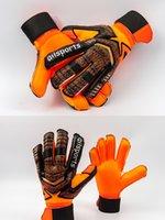 Nuevo diseño Profesional Portero de Fútbol Glvoes Látex Protección de Dedos Niños Adultos Fútbol Portero Guantes 002