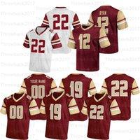 Özel Boston Koleji Futbol Formaları 5 Phil Jurkovec 97 Valdez 90 B.J. Raji 13 Anthony Brown 22 Doug Flutie 24 Pat Garwo III