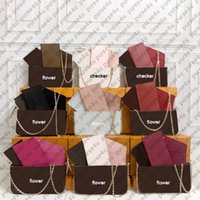 Coated Canvas Clutch Bags Pochette Felicie for Women's Handbag Purses Multi Functional Clutches Sold with Box