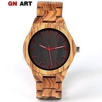 Wristwatches GNART Men Wood Watch Quartz Fashion Handmade Wooden Wrist Watches Mens Relojes Para Caballero Relogio Masculino