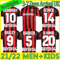 2021 2022 Leverkusen Soccer Jersey Männer Kits Kit Bayer 04 Palacios Bailey Football Uniform Demirbay Volland Tah Shirts 21-22