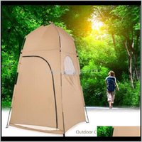 Zelte Schutzhütten und Wandern Sport Outdoors Drop Lieferung 2021 Tragbares Bad Wechselausstattung Zimmer Camping Shower Shelter Strand Privatsphäre