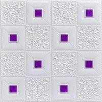 Fondos de pantalla 3D Etiquetas de Pared Estéreo 3D Autoadhesivo Techo Decorativo Sala de estar TV Fondo Fondo de pantalla Espuma