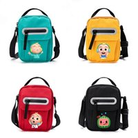 US Stock Kids Cocomelon JJ Fanny Pack Cartoon Crossbody Shoulder Bags with Plush Avocado Doll Pendant Key Holder Travel Sport Tote