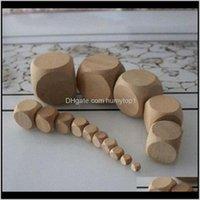 GAMBING 15mm en blanco Dados de madera DIY Cubo de madera Cubo de madera Seguridad de los niños Juguete educativo Dados Bebida Juego Accesorios buen precio alto qua l4umk