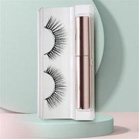 False Eyelashes 1 Pair Magnetic 3D Mink Eyelash Eyeliner Waterproof Long Lasting Fake Makeup Tools Kit