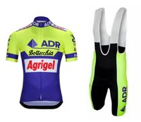 Rennsport-Sets ADR Agrigel Bottecchia Retro Klassiker Kurzarm Radfahren Jersey Sommerkleidung ROPA CICLISMO + BIB-Shorts mit Netzband