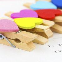 NewParty Supplies Cute Kolorowe Klipy Drewniane Kształt Kształt Clothespins Clip Paper Peg EWB5951