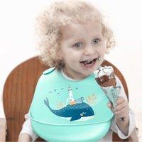 اكسسوارات للشعر الكرتون ستيريو أطفال المرايل سيليكون الحيوان باتن طوي الطفل تغذية المئزر قابل للتعديل اللعاب باندانا للماء