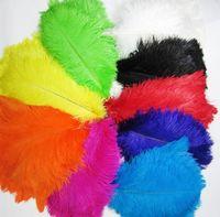 10-12 дюймов 25-30см многоцветных красивых страусов перья для свадебных центральных стола Центральные выставки Сторона декоративная поставка Z134
