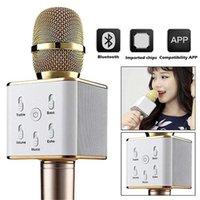 Microphones Handheld Microphone Bluetooth Wireless KTV With Speaker Mic Loudspeaker Portable Karaoke Player in retail bag High Quality