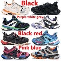 2021 Triple S 3.0 Negro Negro Naranja Zapatos Chunky Runner Rosa Azul Amarillo Gris Entrenador Red Moda Casual Hombres Mujeres Zapatillas de deporte