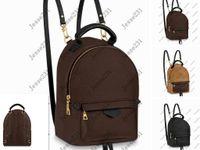 2021 جودة عالية أزياء جلدية صغيرة الحجم حقائب مدرسية النساء والأطفال على ظهره الينابيع سيدة السفر في الهواء الطلق حقيبة 4 ألوان