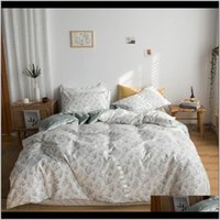 Chic Floral Printed Duvet Cover For Girls Women Queen King Twin Size 100Percent Cotton Soft Bedding Set Flat Bed Sheet Pillowcases M1Kda