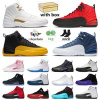 With Box Air Jorden 12 XII Jumpman 12s Mens OVO Shoes Utility Grind Sneakers Flu Game Dark Concord Trainers Retro Low Easter Gym Jordon Men Women Twist Sports
