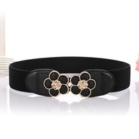 Belts Multi Colors Women Dress Waist Belt Ladies Girls Fashion Wide Metal Flora Hook Stretchy Elastic Waistband BL275