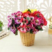 Pansy artificiel Flowers Soie Butterfly Orchidy Fake Flower Vases pour la décoration de la maison Couronnes de plantes décoratives de mariage