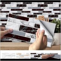 Tapeten Dekor Hausgarten Drop Lieferung 2021 3D Backsteinaufkleber Dekor Foam Wasserdichte Wandbelag Wallpaper für Kinder Wohnzimmer DIY BA