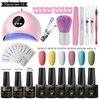 Mtssii Manicure Set18W Dryer Lamp For Nails Set Matte Gel Nail Polish Kit Temperature Change 6 Colors Varnish1