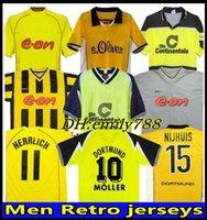 Ретро Classic 1995 96 97 98 2000 01 02 03 2012 2013 2013 Borussia Soccer Trackss Rosicky Lewandowski Moller Dortmund Reus Retro футболка.