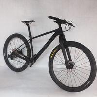 새로운 완전한 자전거 카본 프레임 MTB 하드 테일 마운틴 자전거 탄소 프레임 29er 148 * 12mm SLX M7100 그룹 세트 자전거 FM199